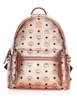 MCM stark small/medium metallic backpack