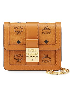 MCM Tracy Visetos Chain Crossbody Bag