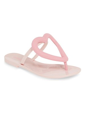Melissa Women big heart flip flop