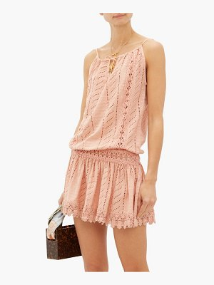 Melissa Odabash chelsea embroidered cotton mini dress