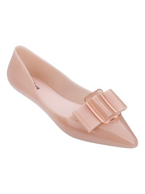 Melissa pointy iii jelly pointed toe flat