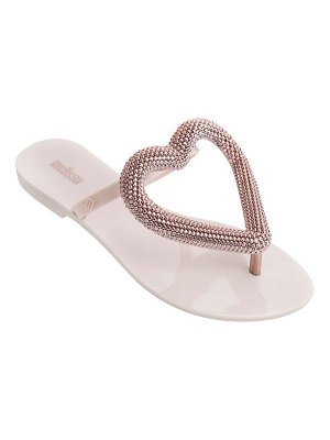 Melissa big heart chrome jelly flip flop