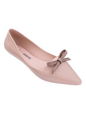 Melissa x jason wu bow jelly flat