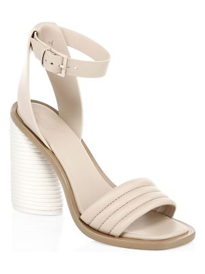 MERCEDES CASTILLO leather tonal banana heel ankle-strap sandals