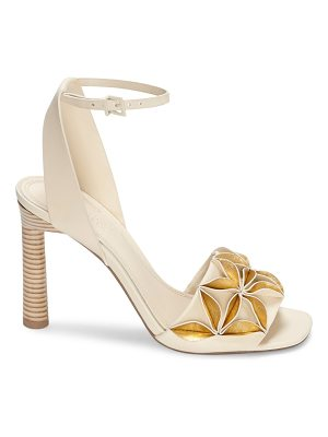 MERCEDES CASTILLO Milee Ivory & Gold Sandals