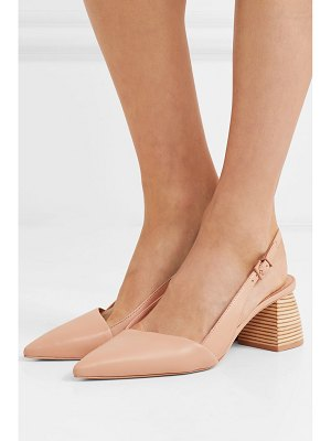 MERCEDES CASTILLO noni leather slingback pumps