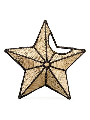 Mercedes Salazar Small Star Straw Clutch Bag