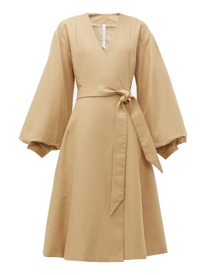 MERLETTE sian tie waist cotton coat