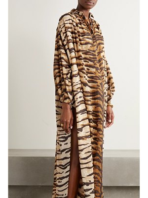 MES DEMOISELLES bangla tiger-print cotton-voile kaftan
