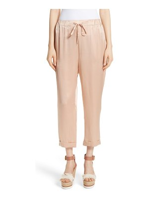 MES DEMOISELLES fester silk ankle pants