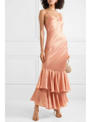 MES DEMOISELLES marmelade ruffled silk-satin maxi dress