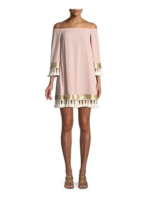 MESTIZA NEW YORK Cha Cha Tassel A-Line Mini Cocktail Dress
