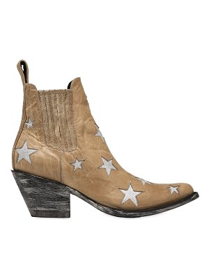 Mexicana 60mm stars leather ankle boots