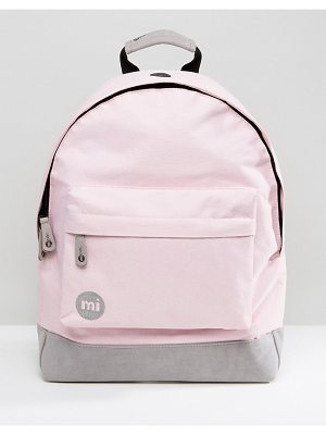 Mi-pac Classic Backpack in Blush Pink & Gray