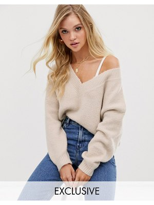 Micha Lounge luxe relaxed sweater in wool blend
