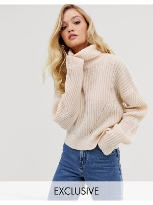 Micha Lounge luxe roll neck sweater in wool blend