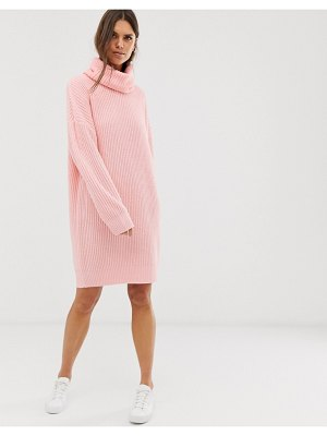 Micha Lounge oversized high neck sweater dress-pink