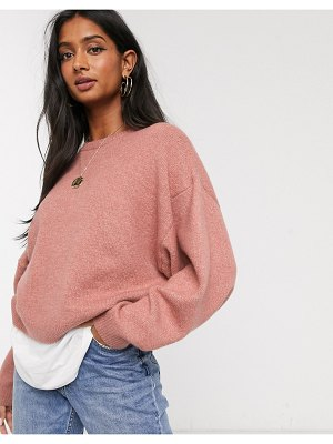 Micha Lounge sweater with balloon sleeve-pink