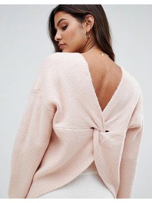 Micha Lounge wrap back sweater-pink