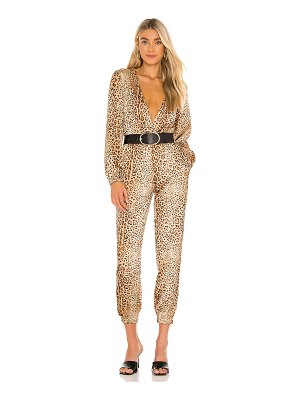 Michael Costello x revolve relaxed surplice jumpsuit
