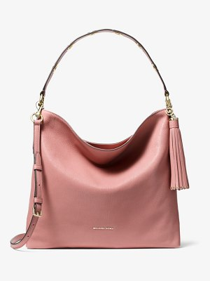 Michael Kors Brooklyn Large Pebbled Leather Shoulder Bag