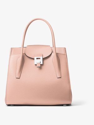 Michael Kors Collection Bancroft Large Pebbled Calf Leather Satchel