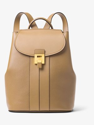 Michael Kors Collection Bancroft Pebbled Calf Leather Backpack