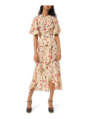 Michael Kors Collection Cascading Flutter Sleeve Dress