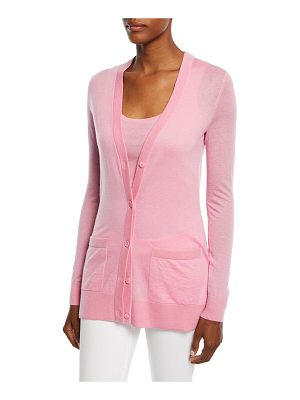 MICHAEL KORS COLLECTION Cashmere Featherweight Button-Front Cardigan