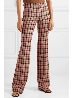 Michael Kors Collection checked wool flared pants