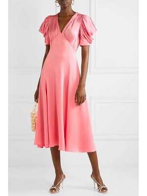 Michael Kors Collection crinkled-satin midi dress