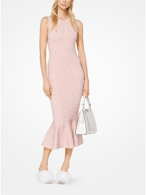 Michael Kors Collection Embroidered Stretch-Viscose Trumpet Dress
