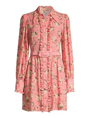 Michael Kors Collection floral silk ruffled shirtdress