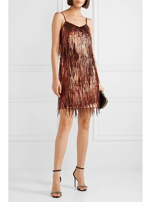 Michael Kors Collection fringed metallic leather mini dress