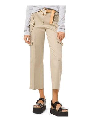 Michael Kors Collection Gem-Button Cotton-Twill Cargo Pants