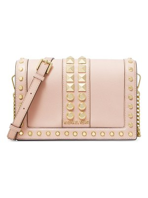 Michael Kors Collection large jet set studded leather crossbody bag