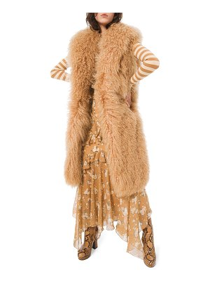 Michael Kors Collection Long Mongolian Fur Vest