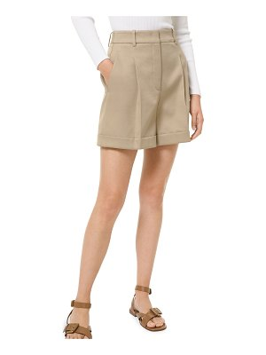 Michael Kors Collection Long Pleated Cuffed Shorts