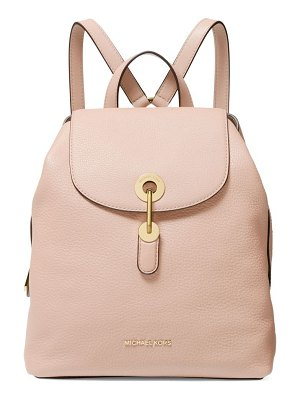 Michael Kors Collection medium raven leather backpack