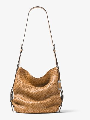 MICHAEL KORS COLLECTION Naomi Extra-Large Woven Leather Shoulder Bag