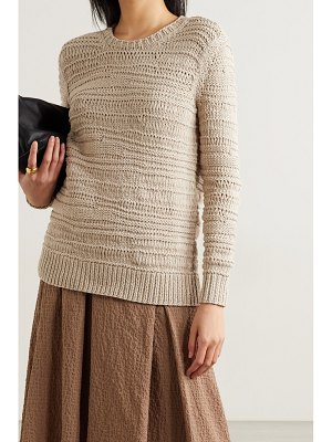 Michael Kors Collection open-knit cotton sweater