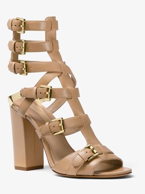 Michael Kors Collection Paisley Calf Leather Sandal