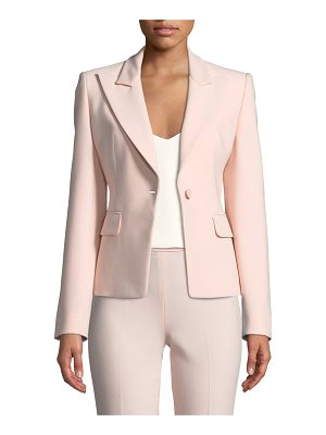 Michael Kors Collection Peak-Lapels One-Button Pebble Crepe Blazer