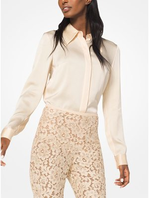 Michael Kors Collection Satin Charmeuse Blouse