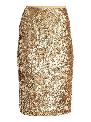 Michael Kors Collection sequin embroidered pencil skirt