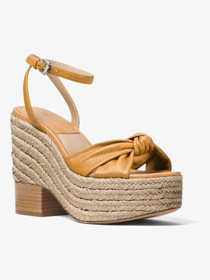 MICHAEL KORS COLLECTION Silvana Leather Platform Sandal