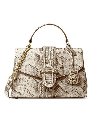 Michael Kors Collection small bleecker python-embossed leather satchel