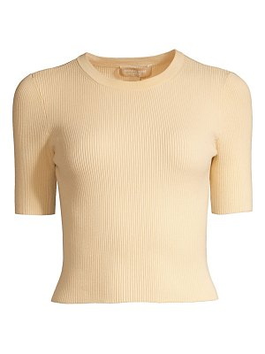 Michael Kors Collection stretch cropped rib-knit tee