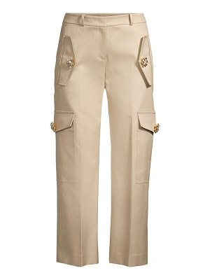 Michael Kors Collection twill jewel cargo pants