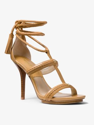 Michael Kors Collection Valera Calf Leather Sandal